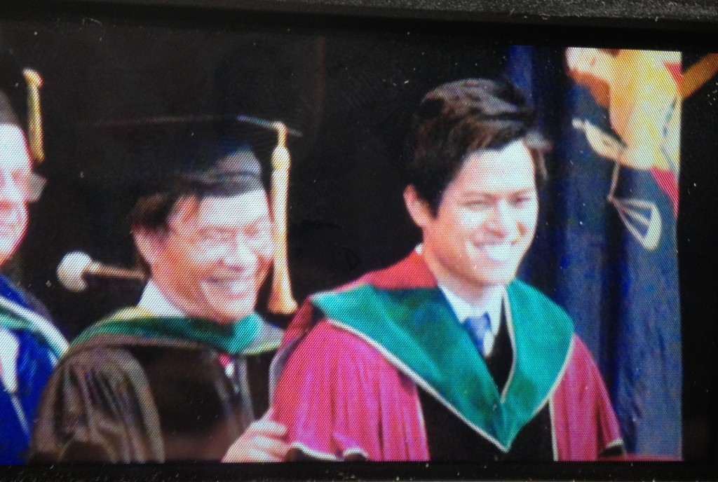 Dr. Vuong hoods Dr. Vuong at my brother Chris' medical school graduation- a pretty special moment for these two!