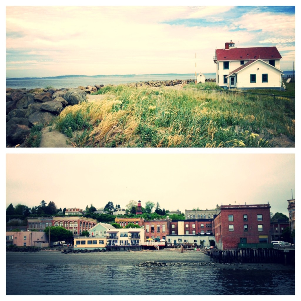 Fort Worden State Park; view of downtown Port Townsend from the dock
