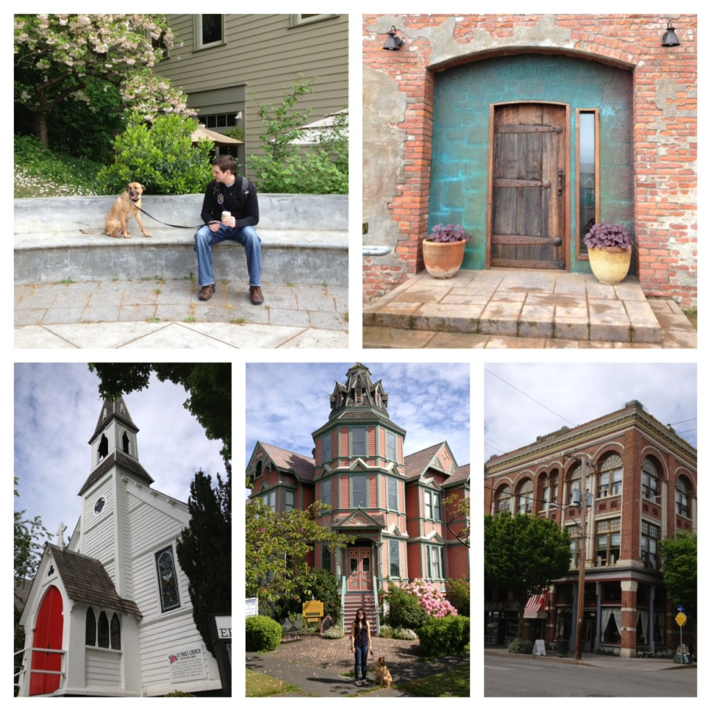 Nick and Miles; clam cannery; the oldest Episcopalian church in WA; Ann Starrett Mansion; Palace Hotel