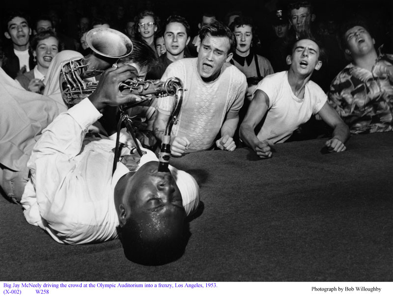 Big Jay McNeely on Sax Driving the Audience Into a Frenzy, 1953