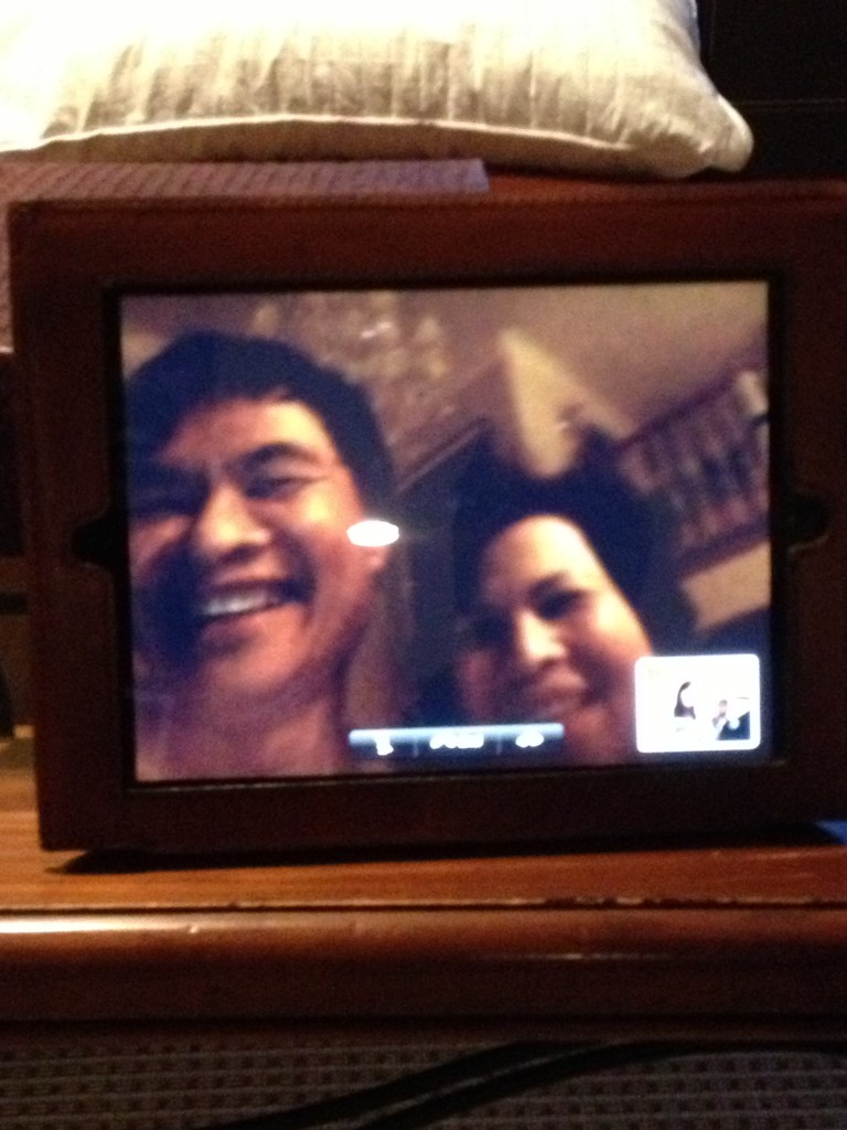 We FaceTimed my parents to tell them the news in August. They kept covering up the camera while jumping up and down.