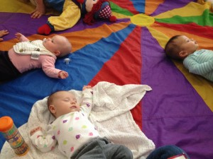 Gymboree: 5 weeks old and already sleeping in class